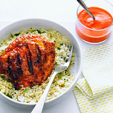 Cashew Romesco Chicken Thighs