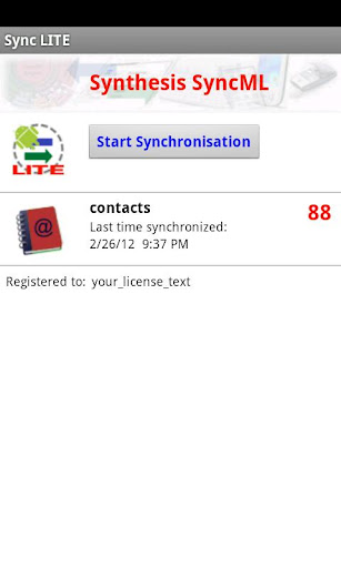 SyncML Client Contacts only