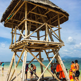 LIFEGUARD ON BREAK by Michael Rey - Buildings & Architecture Other Exteriors ( scuba, resort, beach, philippines, palawan, swimming )