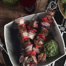 Lamb Kebabs with Mint Pesto