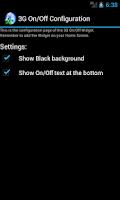 Screenshot of 3G On/Off Widget