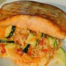 Salmon With Couscous Vegetable Salad