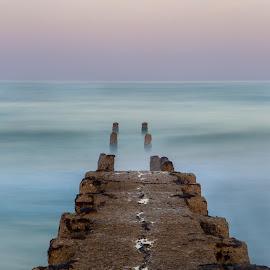 Pier to nowhere by Matt Shell - Landscapes Travel ( old, tel avi, pier, ocean, wharf, israel )