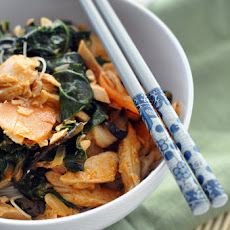 Red Curry with Salmon & Rice Noodles