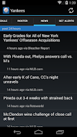 Screenshot of MLB Scores & Alerts