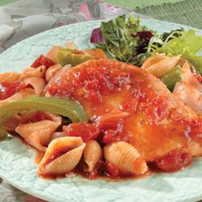 Chicken Cacciatore and Pasta