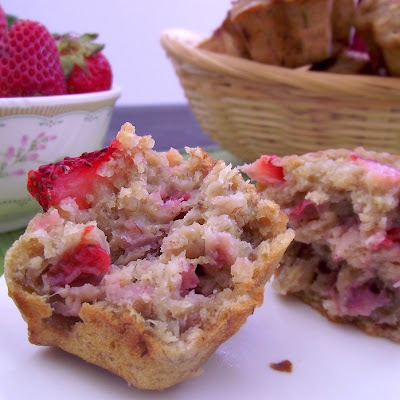 Strawberry-Banana Quinoa Muffins