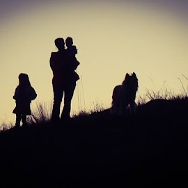 An Evening Hike by Barbara Olstad - People Family (  )