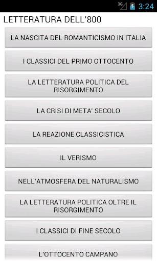 Letteratura Italiana del '800