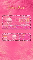 Screenshot of LUXURYPINK THEME GO WEATHER EX