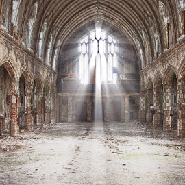 St Agnes Church - Detroit, MI by Mike Boening - Buildings & Architecture Decaying & Abandoned ( rosa parks, urban exploration, urbex, church, st. agnes, light beams, detroit, light, abandoned,  )