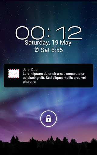 SMS Notification Popup