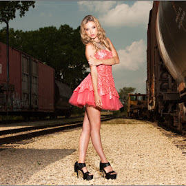 Swaggie on the tracks by Fred Prose - People Portraits of Women ( glamour, fashion, beauty, prose photography )