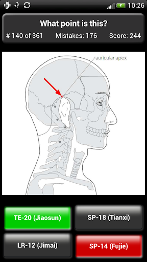 Acupuncture Points Quiz - screenshot