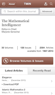 Mathematical Intelligencer - screenshot