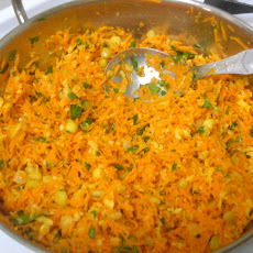 Carrot Salad With Coconut, Cilantro And Lentils