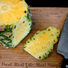 Grilled Pineapple Burgers with Avocado Cream