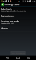 Screenshot of Recent App Cleaner - Xposed