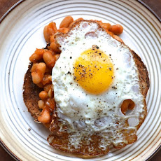 Quick Morning Beans and Fried Eggs