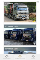 Screenshot of Volvo Trucks Owners' gallery