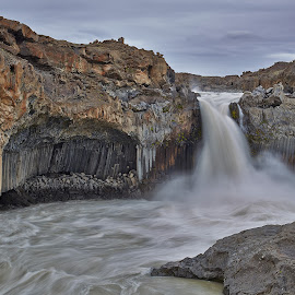 Aldeyjarfoss by Palmi Vilhjalmsson - Landscapes Waterscapes ( iceland, aldeyjarfoss, skjálfandafljót, waterfall, canyon, river, north-iceland )
