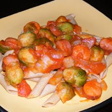 Brussels Sprouts With Franks