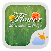 Flower GO Weather Widget Theme