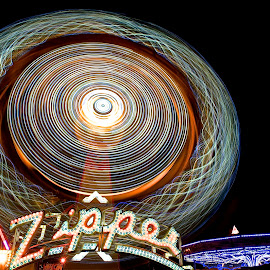 Zipper by Roy Walter - Abstract Light Painting ( abstract, rides, light painting, county fair )