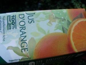 bouteille jus orange