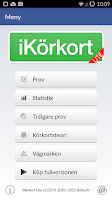 Screenshot of iKörkort Lite