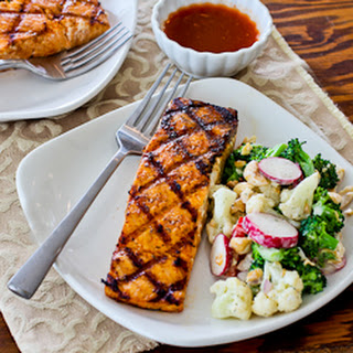 Grilled Salmon with Maple-Sriracha-Lime Glaze