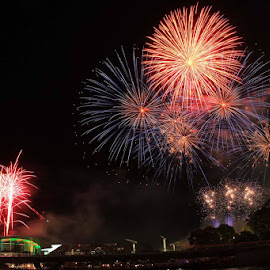 Australia day 2014 Elder Park Adelaide by Budiyanto Dwi Prasetyo - Abstract Fire & Fireworks