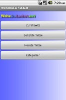 Screenshot of Witze App - WeheDuLachst.Net