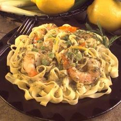 Pesto and Pasta with Lemon and Shrimp