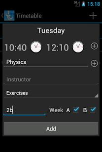 Students - Timetable APK for Nokia