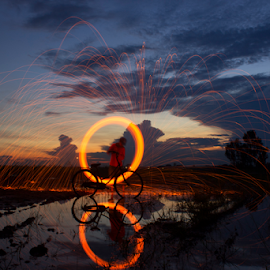 Steel Wool under sunset. by Monorom Kim - Digital Art Things