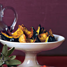 Roasted Acorn Squashes with Rosemary