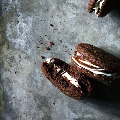 Black and White Brownie Sandwich Cookies
