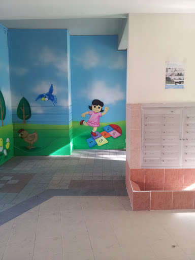 Little Girl Hopscotch Mural