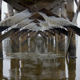 Under the Boardwalk in Ice by Rob Kovacs - Novices Only Objects & Still Life (  )