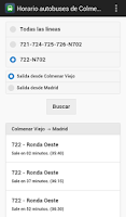 Screenshot of Autobuses de Colmenar Viejo