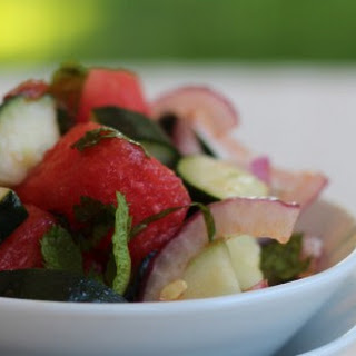 Watermelon and Cucumber Mint Salad