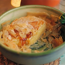 Baked Brie in Filo with Jam & Almonds