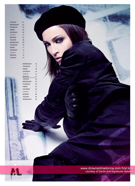 Official Madonna Calendar 2009 Photos