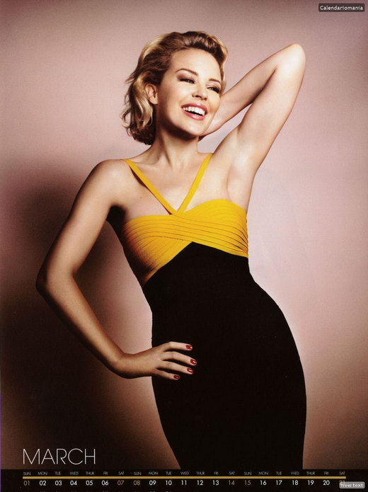 Kylie Minogue-Calendar 2009 Photos