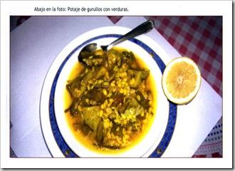 Potaje de Gurullos con verduras