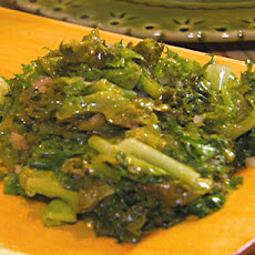 Sauteed Escarole with Shallots and Hot Chili Oil