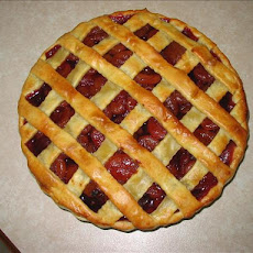 Spiced Apricot and Plum Pie