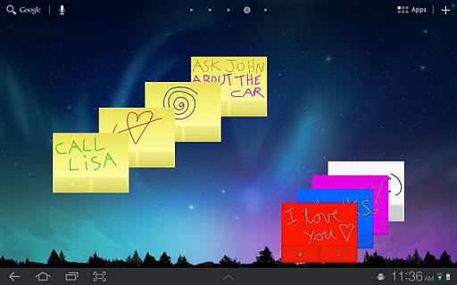 Sticky Notes HD Tablet Widget