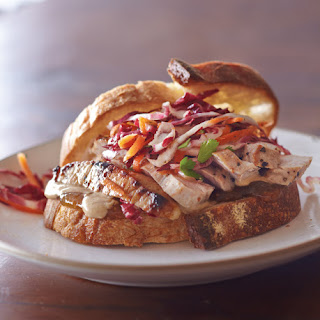 Pork Loin Sandwiches with Radicchio-Carrot Slaw